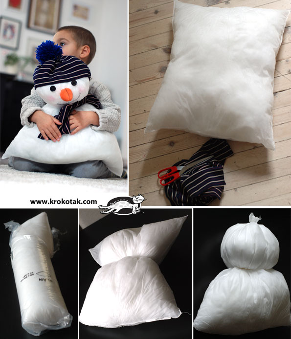 Snowman from a pillow (IKEA)