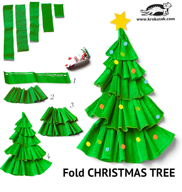 krokotak | Fold CHRISTMAS TREE