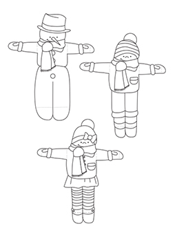 Krokotak ice cream skiers to make these ski racers you need this template two toot picks and two ice cream wooden sticks pronofoot35fo Choice Image