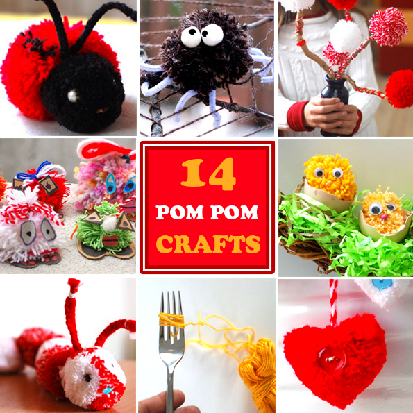 pompom kids crafts