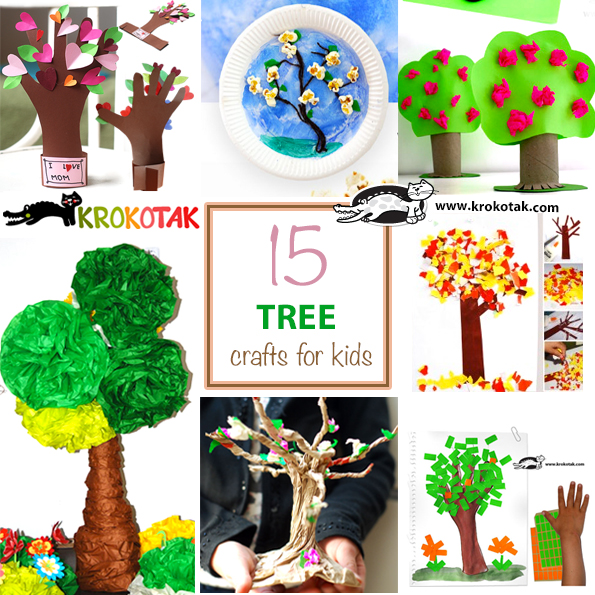 trees crafts for kids