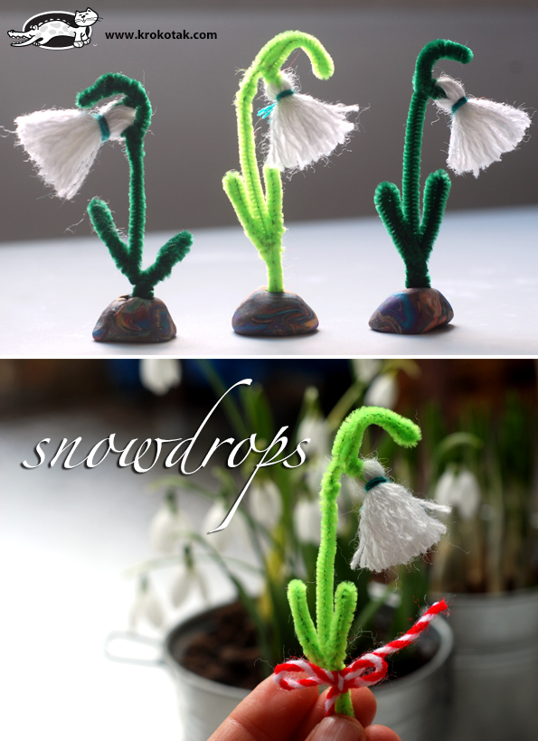 A Snowdrop from Threadа