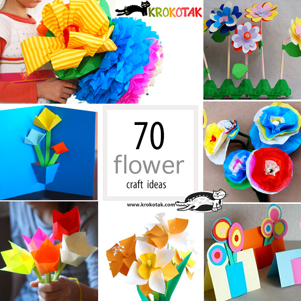 flowers crafts for kids