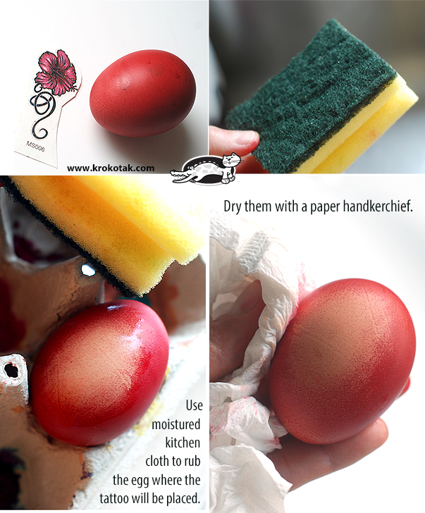 Easter Eggs with Temporary Tattoos