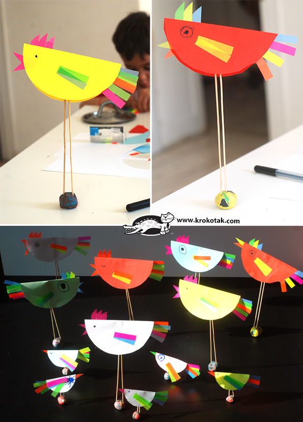 Sticky Notes Decorated Birds