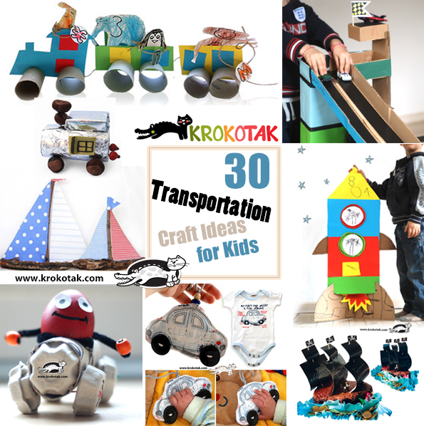 transportation craft ideas for kids