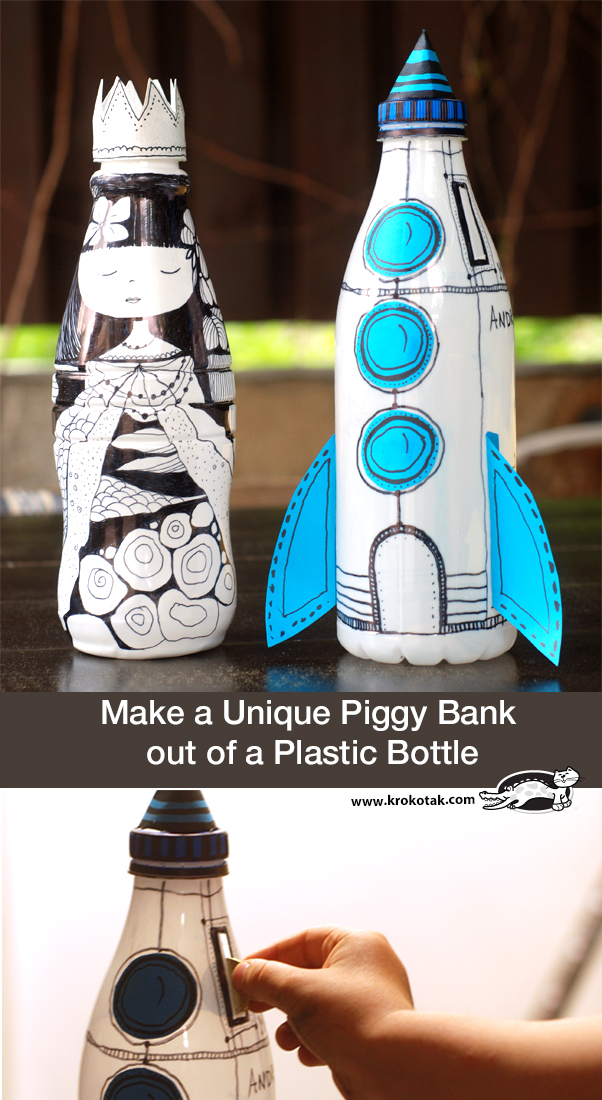 krokotak | Make a Unique Piggy Bank out of a Plastic Bottle