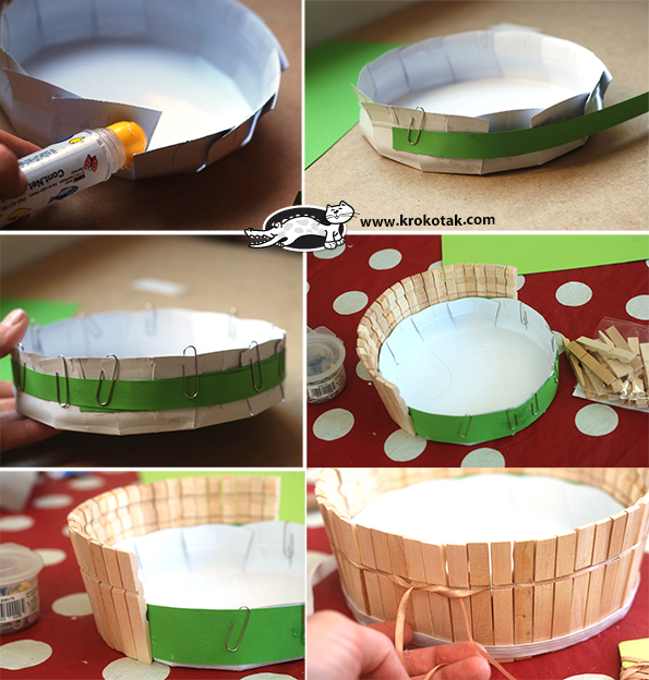 A Basket from Wooden Clothespins - Make it in 10 Minutes