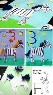 zebra - collage for kids