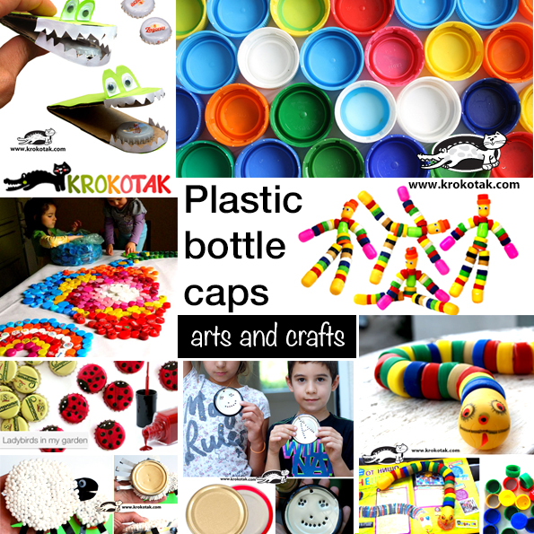 plastic bottle caps - art and crafts