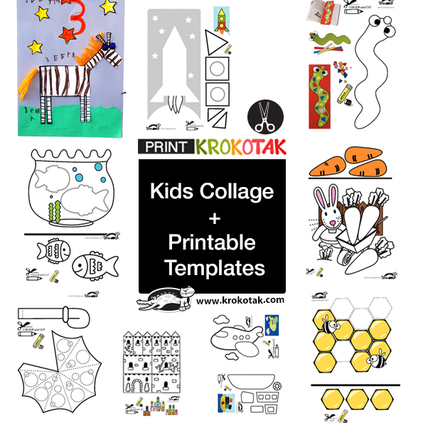 kids collage + printable templates