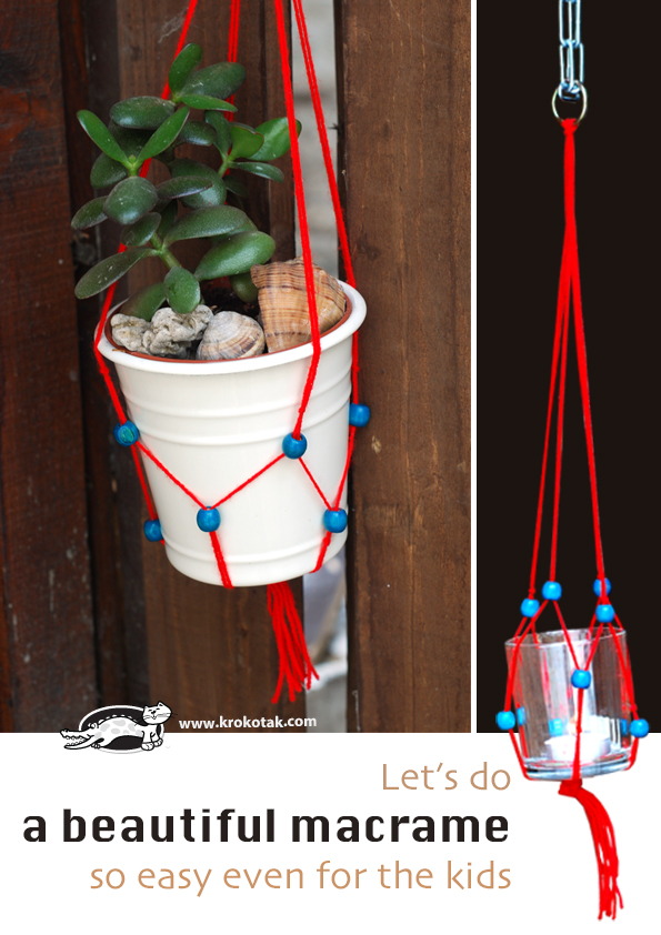 Let's do a beautiful macrame - so easy even for the kids