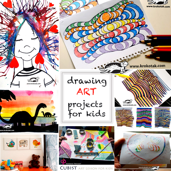 drawing art projects for kids