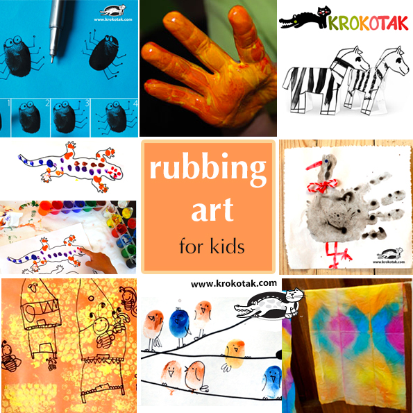 rubbing kids art