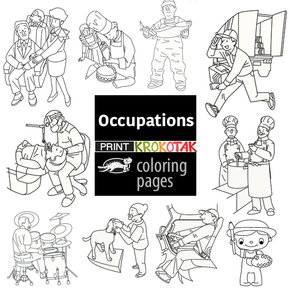 occuoations colouring pages