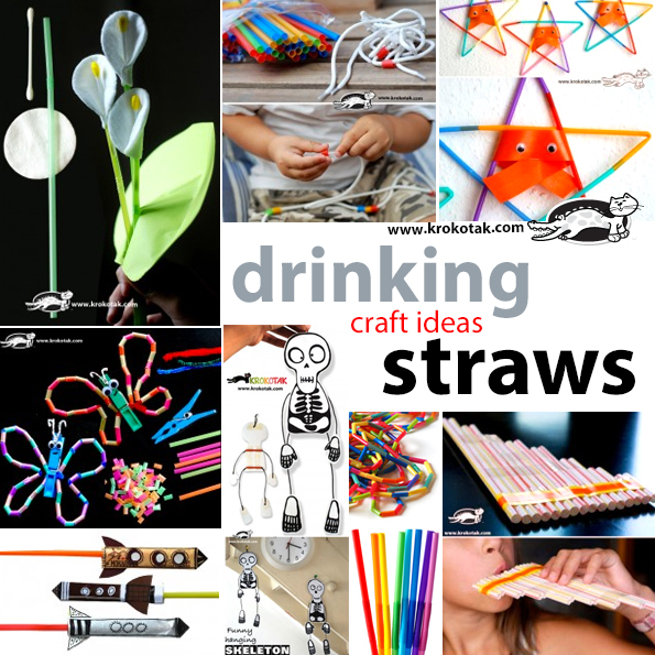 drinking srtaws crafts ideas for kids