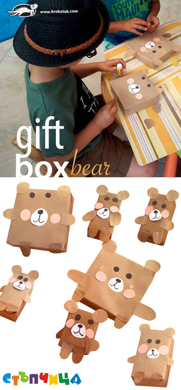 DIY Gift Box Bear