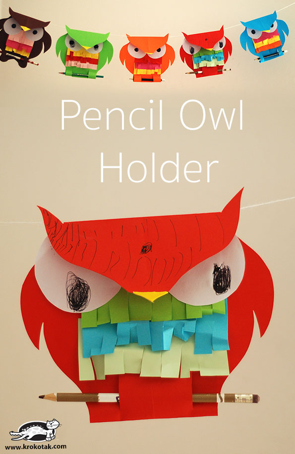 Pencil Owl Holder в