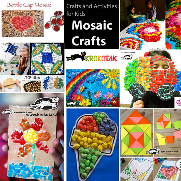 mosaic DIY kids crafts