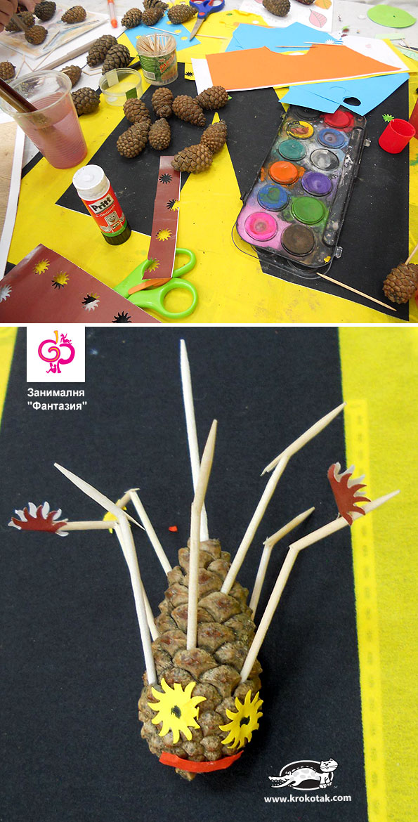 Make Aliens & Monsters from pinecone