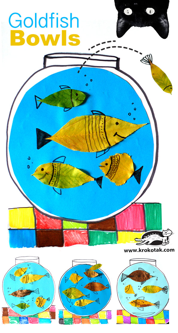 Krokotak diy goldfish bowls for Gold fish card game