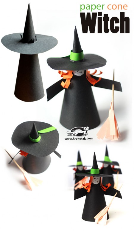 Paper cone witch
