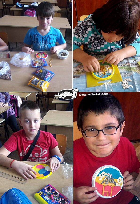 Plasticine and seeds pictures