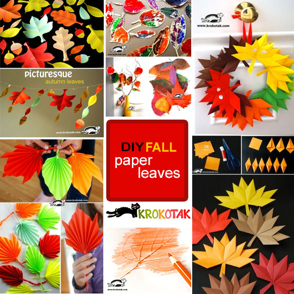 FALL  paper leaves