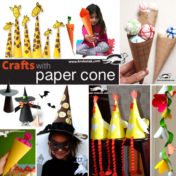 crafts with paper cone