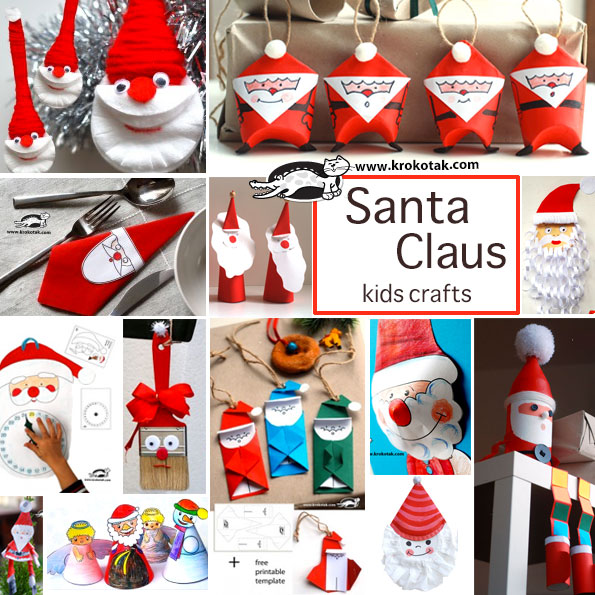 Santa Claus - kids crafts