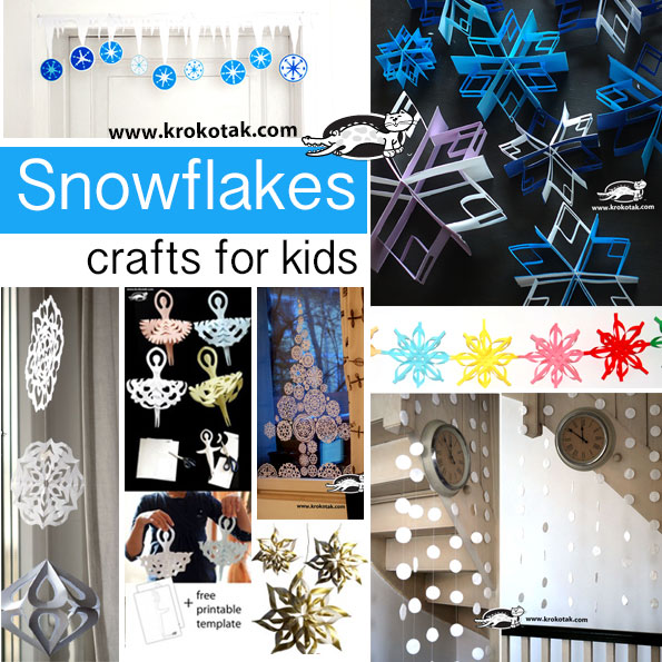 Snowflakes crafts for kids