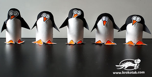 Krokotak Toilet Paper Roll Penguin Craft Project For Kids