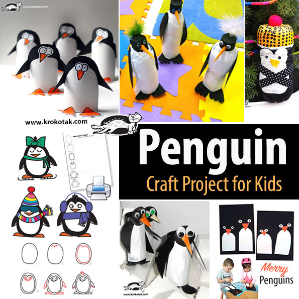 Penguin kids crafts