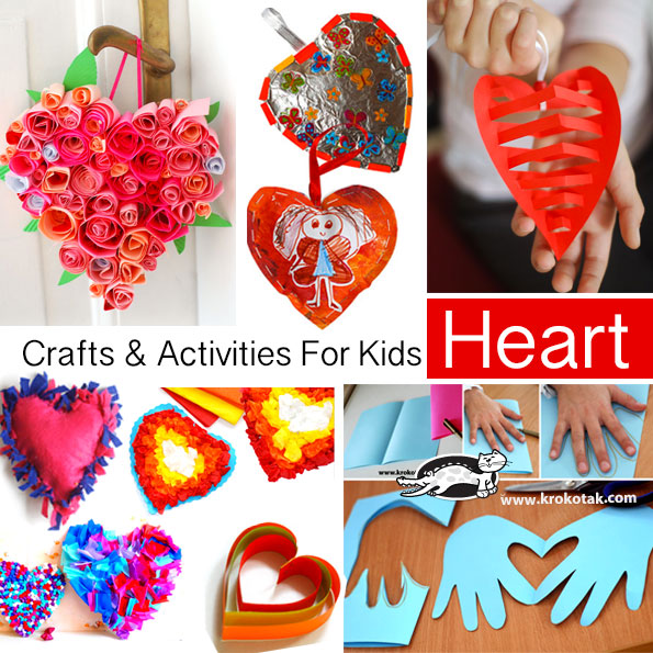 heart crafts for kids