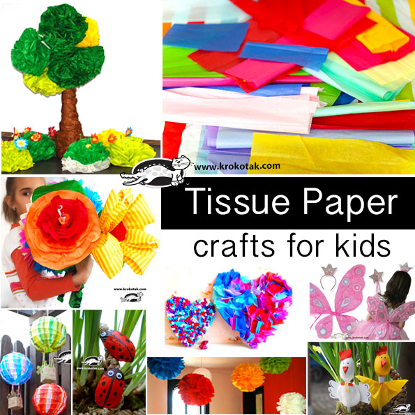 tissue kids crafts