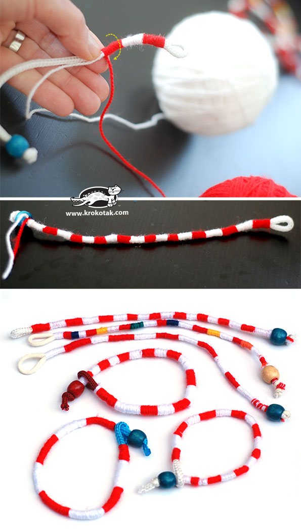 How to make a Yarn Bracelet