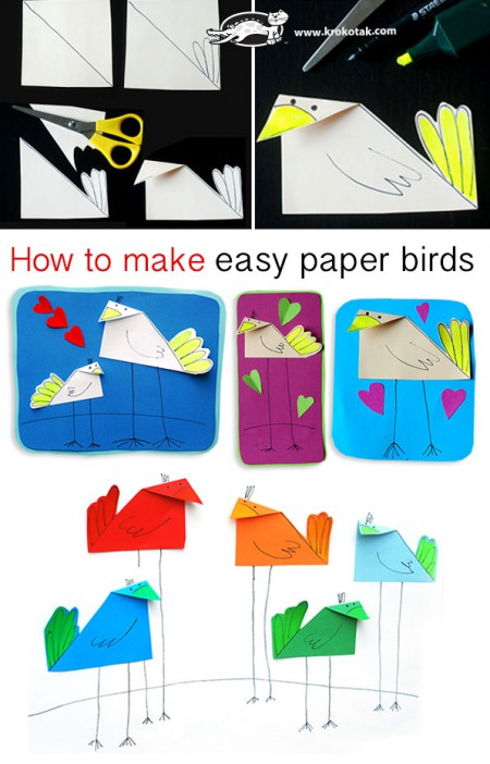 How To Make Easy Paper Birds 4737151141