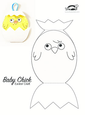 easter chick templates free - krokotak baby chick easter craft
