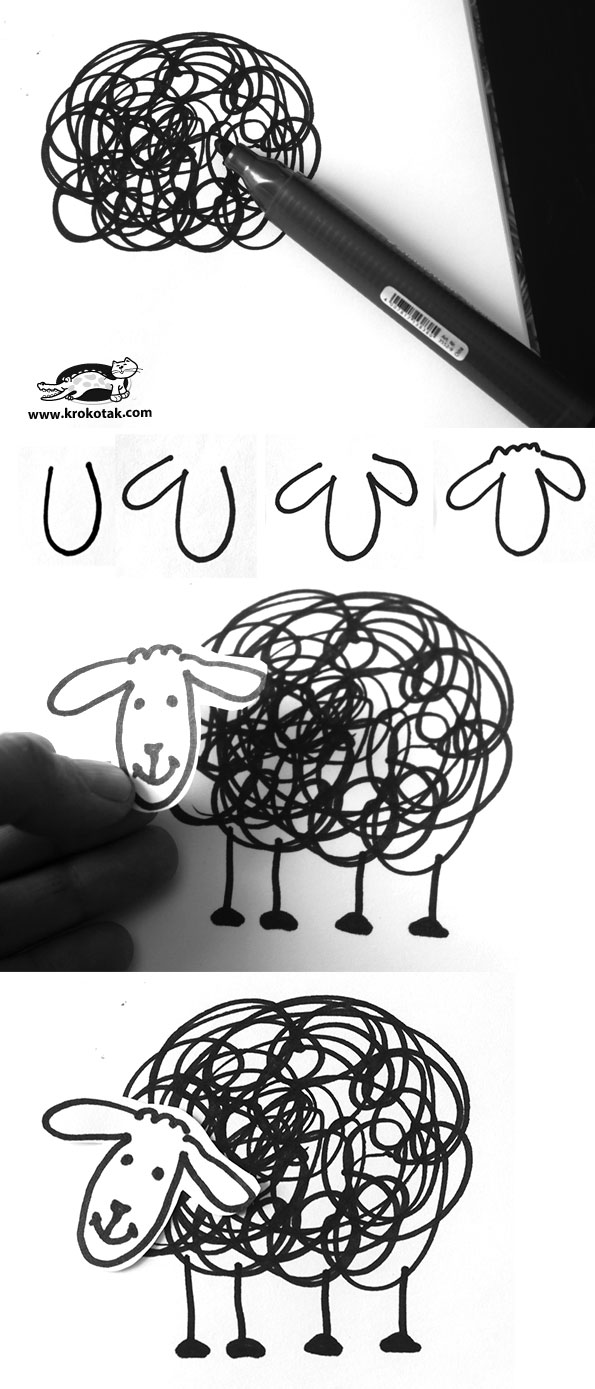 Krokotak How To Draw Black Sheep