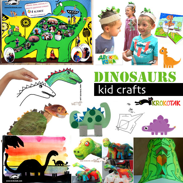 dinosaursvkids crafts