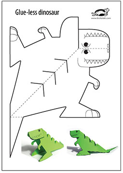 picture regarding Dinosaur Template Printable named krokotak Glue-lee printable dinosaur