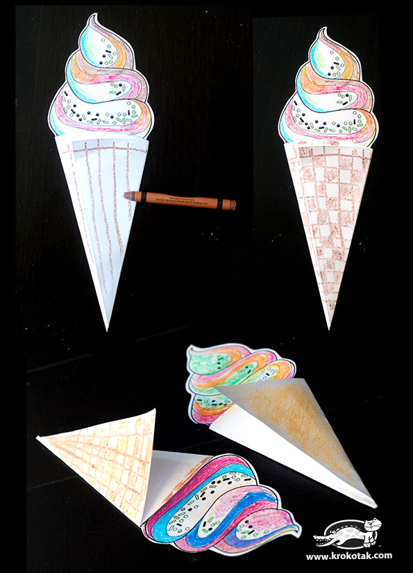 Krokotak Color Cut Amp Create Ice Cream