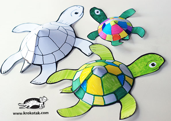 graphic regarding Turtle Printable identified as krokotak Glue-a lot less printable turtle