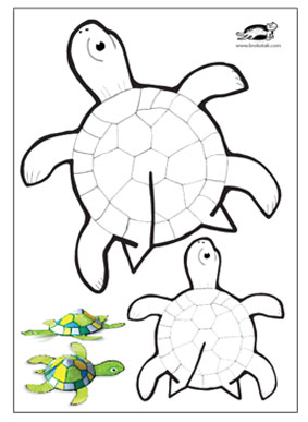 picture about Turtle Templates Printable referred to as krokotak Glue-fewer printable turtle