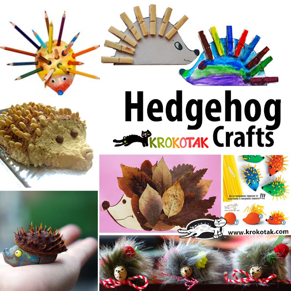 hedgehog kids crafts