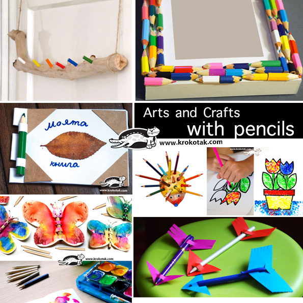 pensil crafts with kids