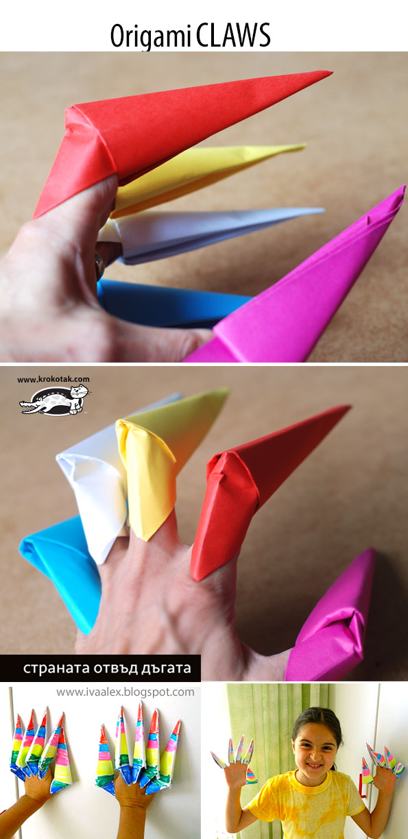 How to make: Origami Claws - YouTube | 1224x595