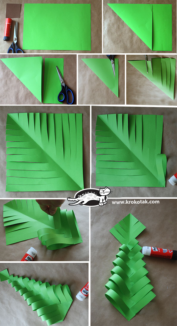 Paper Craft Ideas For Christmas Part - 26: DIY Paper Christmas Trees