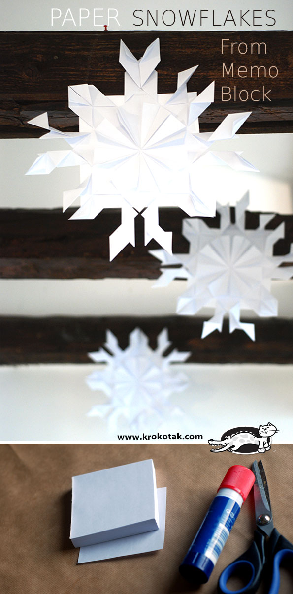 6Paper Snowflake Decorations