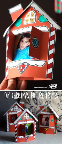DIY CHRISTMAS PICTURE FRAMES